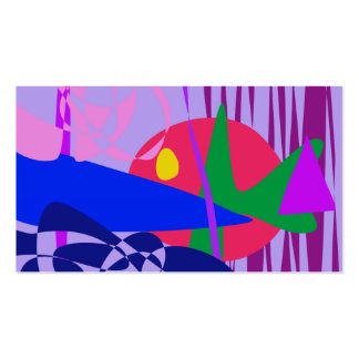 Abstract Gold Fish in the Aquarium Business Cards