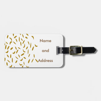 Abstract Gold Flex Tag For Luggage