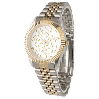 Abstract Gold Flex Watches