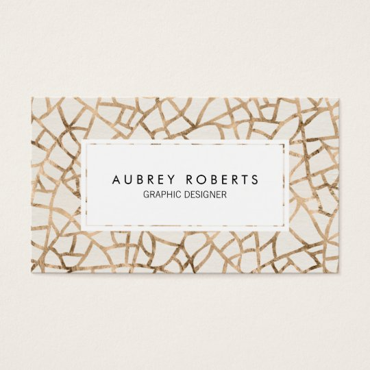 Abstract Gold Foil Pattern Elegant Professional Business Card
