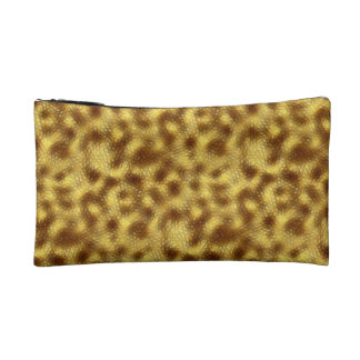 Abstract Gold Geometric Mesh Design Cosmetic Bag