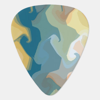 ABSTRACT GOLD GREEN BLUE PLECTRUM