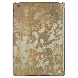 Abstract Gold Painting with Silver Speckles