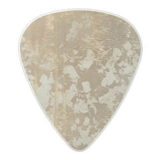 Abstract Gold Painting with Silver Speckles Acetal Guitar Pick