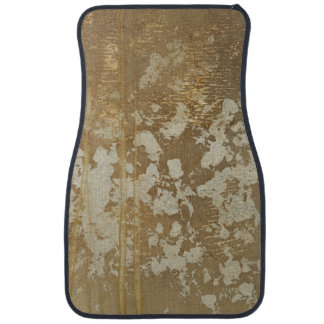Abstract Gold Painting with Silver Speckles Floor Mat