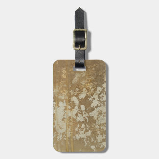 Abstract Gold Painting with Silver Speckles Luggage Tag