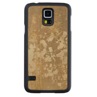 Abstract Gold Painting with Silver Speckles Maple Galaxy S5 Slim Case
