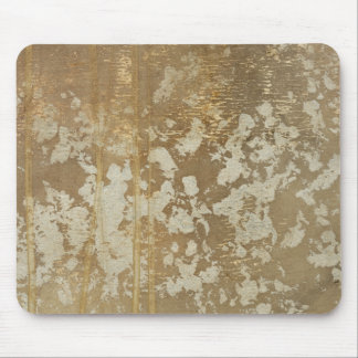 Abstract Gold Painting with Silver Speckles Mouse Pad
