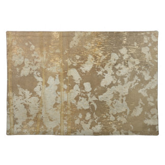 Abstract Gold Painting with Silver Speckles Placemat
