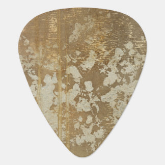 Abstract Gold Painting with Silver Speckles Plectrum