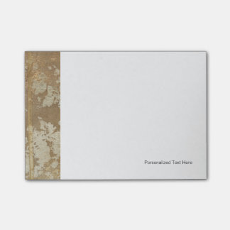 Abstract Gold Painting with Silver Speckles Post-it Notes