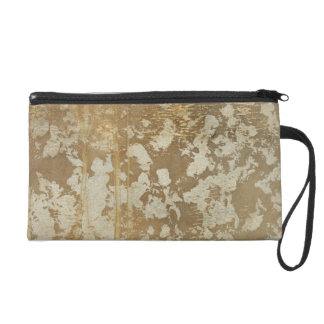 Abstract Gold Painting with Silver Speckles Wristlet