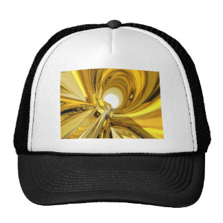 Abstract Gold Rings Trucker Hat