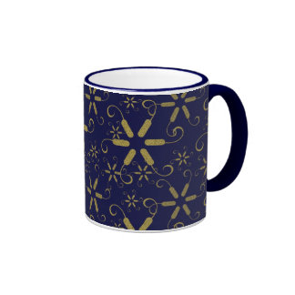 Abstract Gold Snowflakes - Great Gifts Mugs