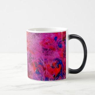 ABSTRACT GOLD SWIRLS , red pink purple yellow Mugs