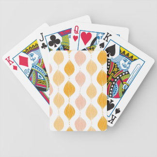 Abstract golden ogee pattern background bicycle playing cards