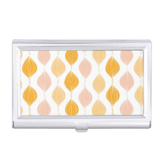 Abstract golden ogee pattern background business card holder