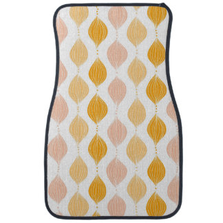Abstract golden ogee pattern background car mat