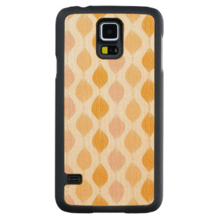 Abstract golden ogee pattern background carved maple galaxy s5 case