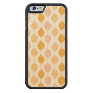 Abstract golden ogee pattern background carved maple iPhone 6 bumper case