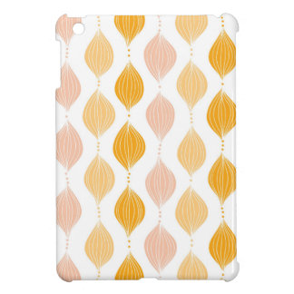 Abstract golden ogee pattern background case for the iPad mini
