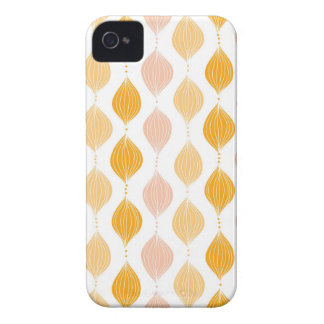Abstract golden ogee pattern background Case-Mate iPhone 4 cases