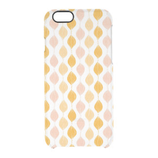 Abstract golden ogee pattern background clear iPhone 6/6S case