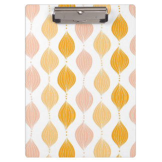 Abstract golden ogee pattern background clipboard
