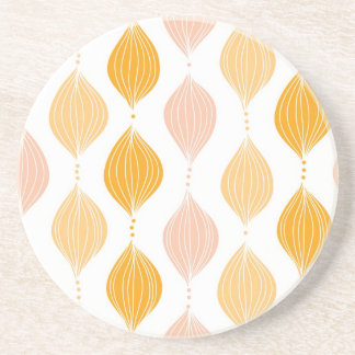 Abstract golden ogee pattern background coaster