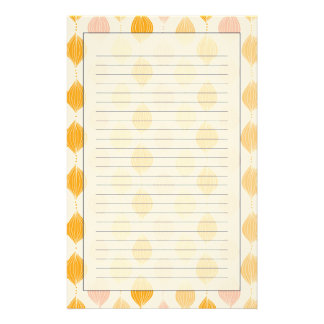 Abstract golden ogee pattern background customised stationery