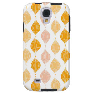 Abstract golden ogee pattern background galaxy s4 case
