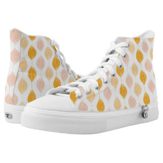 Abstract golden ogee pattern background high tops