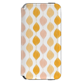 Abstract golden ogee pattern background incipio watson™ iPhone 6 wallet case