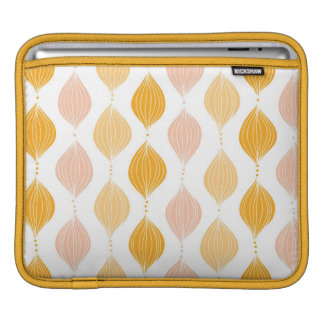Abstract golden ogee pattern background iPad sleeve
