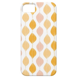 Abstract golden ogee pattern background iPhone 5 cases