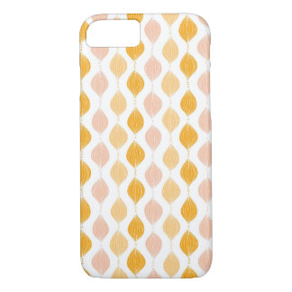Abstract golden ogee pattern background iPhone 7 case