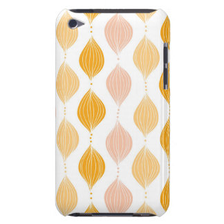 Abstract golden ogee pattern background iPod touch case