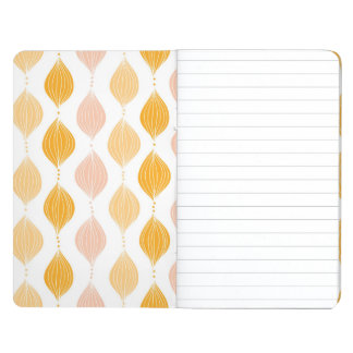 Abstract golden ogee pattern background journal