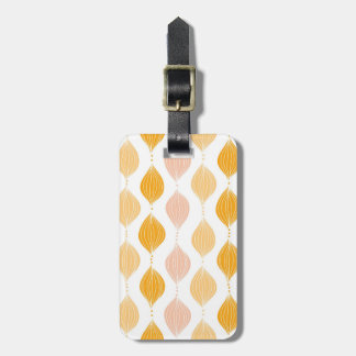 Abstract golden ogee pattern background luggage tag