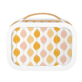 Abstract golden ogee pattern background lunch box