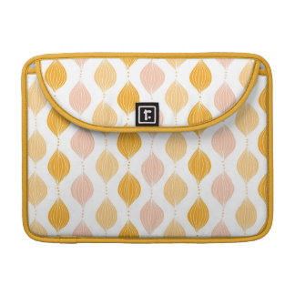 Abstract golden ogee pattern background MacBook pro sleeves