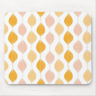 Abstract golden ogee pattern background mouse mat