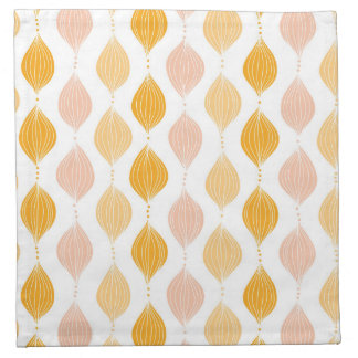 Abstract golden ogee pattern background napkin