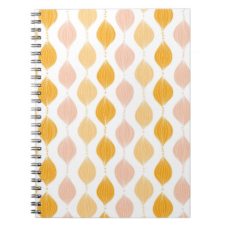 Abstract golden ogee pattern background notebooks
