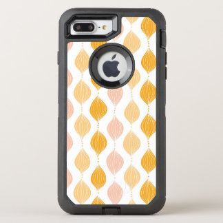 Abstract golden ogee pattern background OtterBox defender iPhone 8 plus/7 plus case