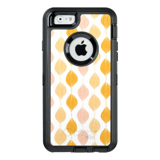 Abstract golden ogee pattern background OtterBox defender iPhone case