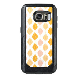 Abstract golden ogee pattern background OtterBox samsung galaxy s7 case