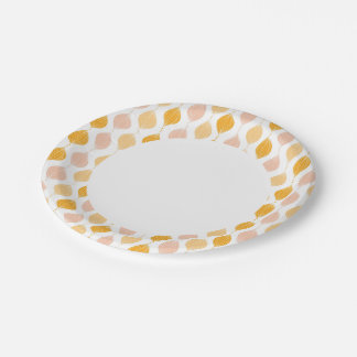Abstract golden ogee pattern background paper plate