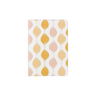 Abstract golden ogee pattern background passport holder
