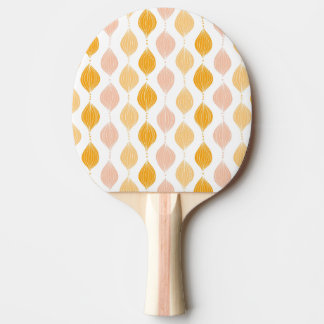 Abstract golden ogee pattern background ping pong paddle